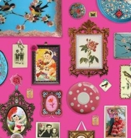 Eijffinger Pip Studio behang  386101 Memories Roze
