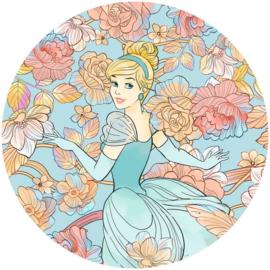 Komar DD1-003 Cinderella Pastel Dreams behangcirkel zelfklevend 125cm