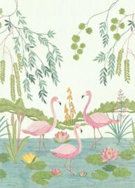Komar Into Adventure IAX4-0044 Flamingo Vibes  200cm x 280cm hoog