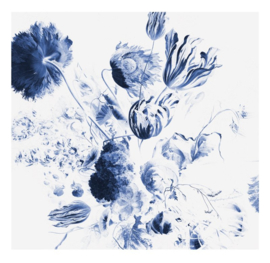 Kek Royal Blue Flowers WP-218 afmeting 292.2x280