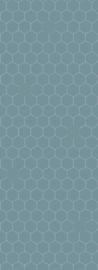 Bibelotte behang Honingraat denimblauw 28031