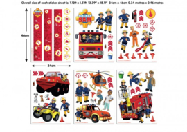 Walltastic muurstickers 43213 Brandweerman Sam