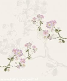 Behang Eijffinger Un Bisou 365118 Fleurs de Printemps blanc