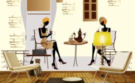 Fotobehang Straatcafé