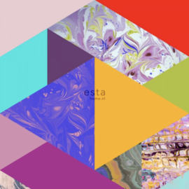 Esta photowallXL  158914 Marbled triangles