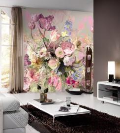 Colorful Florals&Retro fotobehang designed by INGK7291
