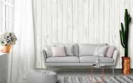 Fotobehang Idealdecor 00169 Witte Planken