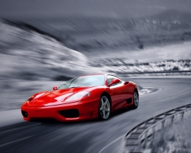 Dutch DigiWalls fotobehang art. 70084 Red car