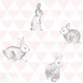 Behang Onszelf Smile - OZ 3270 konijntjes