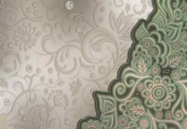 Fotobehang Floral Pattern Green