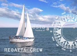 Esta Home Regatta Crew (A) 156434 PhotowallXL Ocean blue