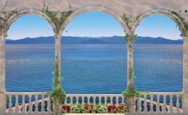 Fotobehang Uitzicht op het Meer