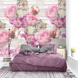 Colorful Florals&Retro fotobehang designed by INGK7295