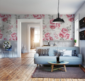 Colorful Florals&Retro fotobehang designed by INGK7292