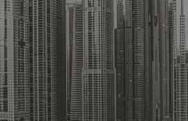 Fotobehang City Love CL70A Dubai wolkenkrabber