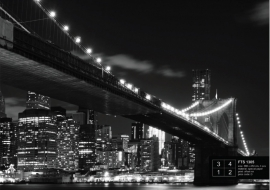 Fotobehang AG Design FTS1305 Brooklyn Bridge