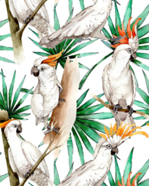 Creative Lab Wallpaper on roll White Parrot