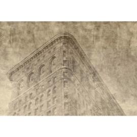 Fotobehang New York City Sepia