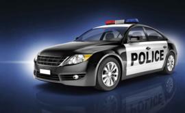 Fotobehang  Politie Auto