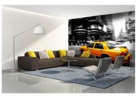 Fotobehang Yellow Cab