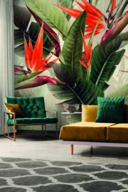 AS Creation DD120242 Orange Birds of Paradise afm. 400cm x 280cm hoog