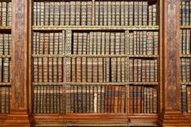 Fotobehang Bibliotheek Boekenwand