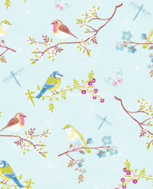Eijffinger Pip Studio behang  386011 Early Bird Blauw