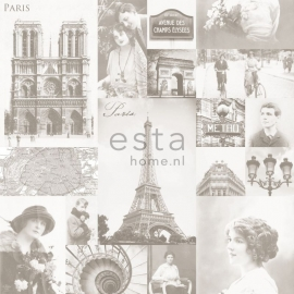 Behang Esta Home Pretty Nostalgic 138149 Paris