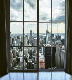 Fotobehang Manhattan uitzicht vanuit raam