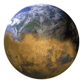 Noordwand Good Vibes GVC24311 behangcirkel aarde