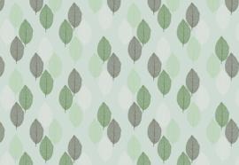 Fotobehang Groene bladeren patroon