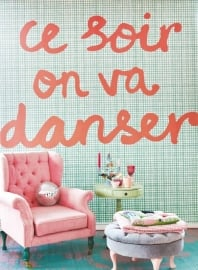Posterbehang Eijffinger Rice 359166 Tonight we will dance - Mint