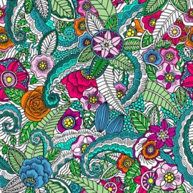Esta Cabana 158608 XXL behang bloemen mandala