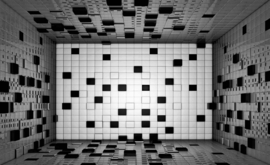 Fotobehang Tegelwand Zwart Wit