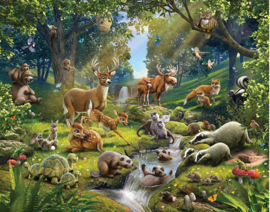 Walltastic posterbehang 43060 Animals of the Forest