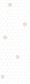 Bibelotte behang Honingraat wit-roze 28041