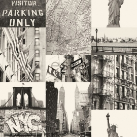 Behang Esta Denim & Co 137718 Streetview New York