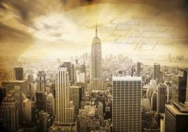 Fotobehang New York City Vintage Sepia