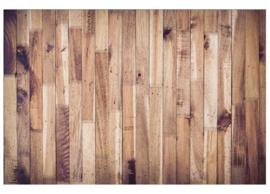 Fotobehang Planken wand verticaal