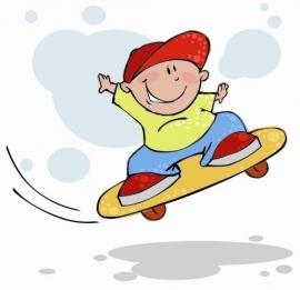 Little Ones fotobehang 416024 Skateboard Jim