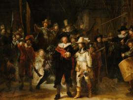 Canvasdoek De Nachtwacht, Rembrandt van Rijn