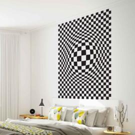 Fotobehang Geometrisch Zwart Wit