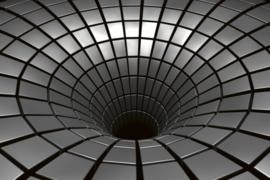Fotobehang Zilveren trechter