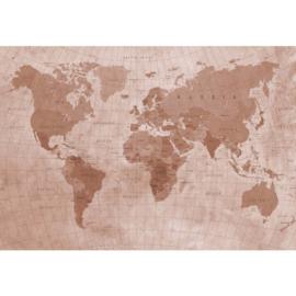 Fotobehang Wereldkaart Sepia