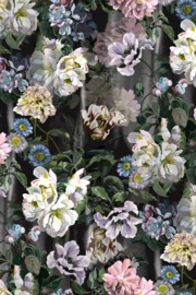 Designers Guild PDG1038/01 Delft Flower Grande Graphite