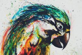 Fotowand Parrot Monika Strigel afm. 400cm x 270cm hoog