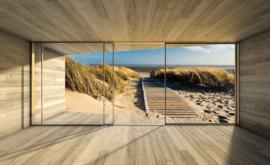 Fotobehang Op het strand