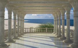 Fotobehang Uitzicht over de Zee en het Strand