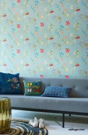 Eijffinger PiP Studio behang 375022 Cherry PiP Lichtgroen