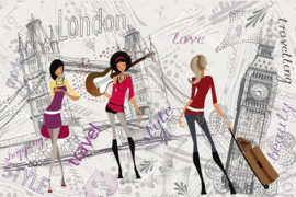 Fotobehang London Girls
